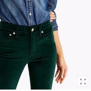 J. Crew Dark Green Velvet Jeans sz. 30
